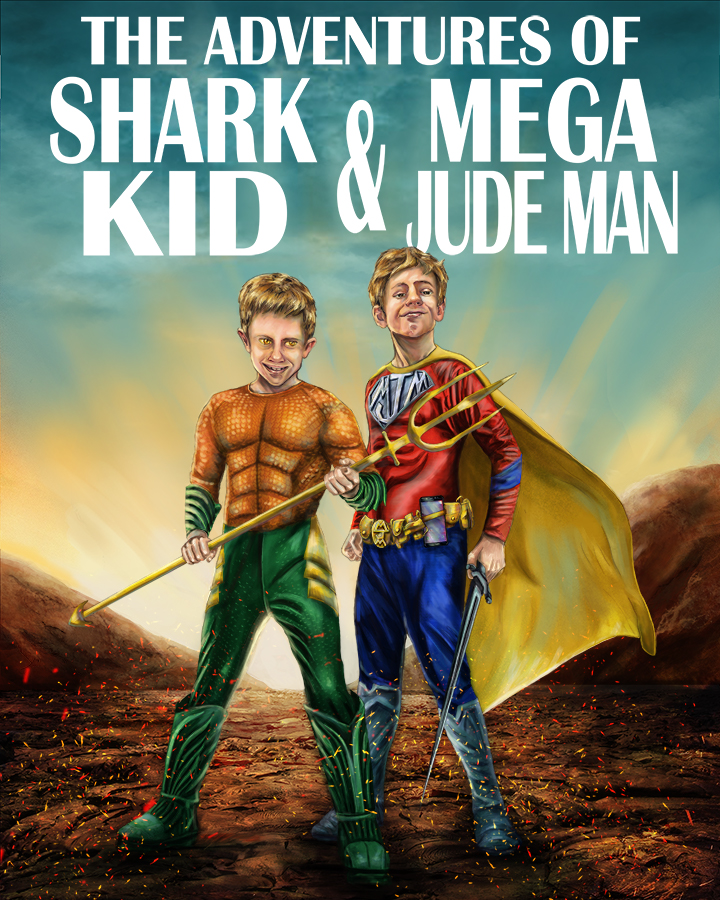 Shark Kid and Mega Jude