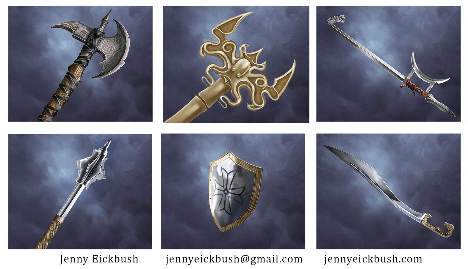 Jenny Eickbush_Weapon Cards